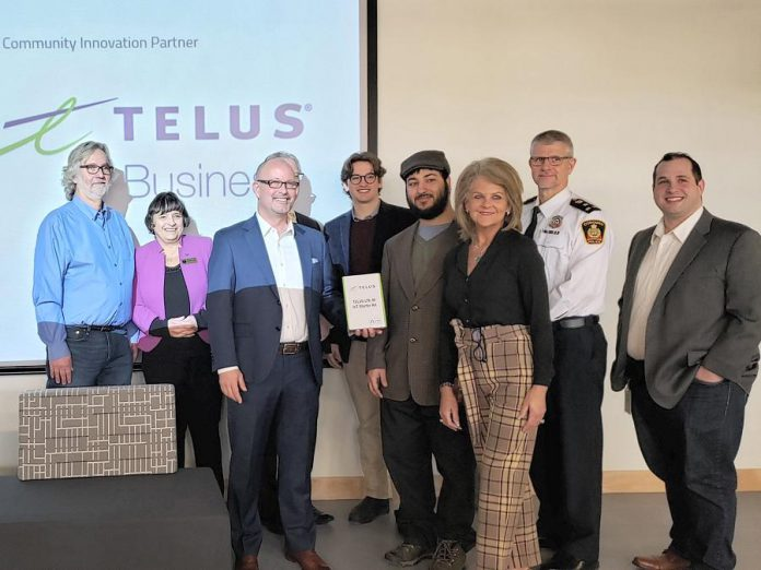 Representatives from Telus Business and  Venture13 Innovation and Entrepreneurship Centre in Cobourg at the February 19, 2020 announcement of a new strategic alliance. (Photo courtesy of the Town of Cobourg)