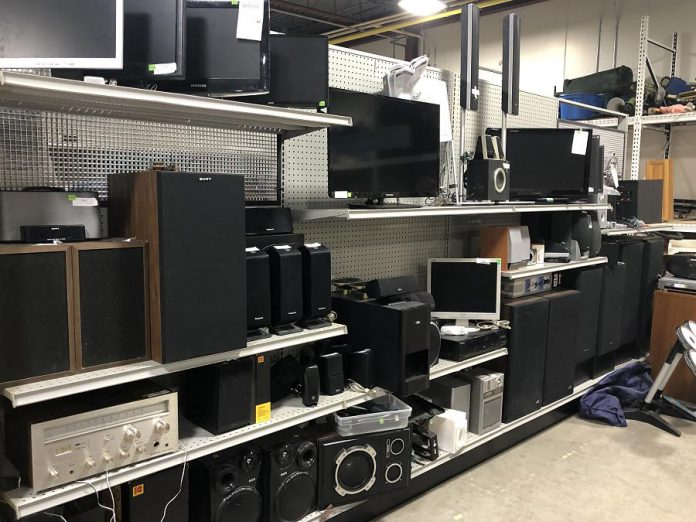 Both functioning and non-functioning electronics can also be useful to the ReStore. (Photo courtesy of Habitat for Humanity Peterborough & Kawartha Region)