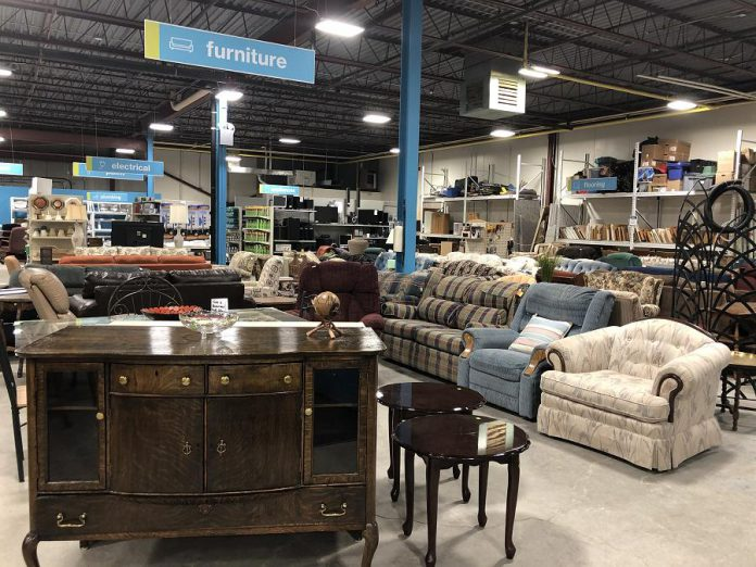 The Habitat for Humanity ReStore will accept donations of kitchen cabinetry, sinks, toilets, lighting, furniture, building materials, scrap metal, and more.  (Photo courtesy of Habitat for Humanity Peterborough & Kawartha Region)