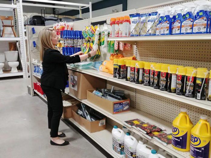 Volunteers are always welcome in the ReStore to test products, greet customers, stock shelves, and accept donated items. High school students and youth volunteers are also encouraged to get involved. (Photo courtesy of Habitat for Humanity Peterborough & Kawartha Region)
