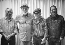 Dave Mowat and the Curbside Shuffle (Al Black on drums, Dave Mowat on harp, Terry Wilkins on bass, Clayton Yates on guitar) bring their Chicago, Delta, and country blues to the Keene Centre for the Arts on Saturday, February 8th. The band will also be hosting the PMBA Deluxe Blues Jam at Dr. J's in Peterborough the following week on Saturday afternoon. (Photo: Dave Mowat and the Curbside Shuffle / Facebook)