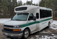 'The Link' pilot rural transportation service will use 15-passenger Peterborough Transit buses to provide affordable and accessible service from Selwyn Township and Curve Lake First Nation with connections to Bridgenorth, Ennismore, and Peterborough. Open houses are taking place during February where members of the public provide feedback on the route, schedule, and fare structure of the service, expected to launch in May 2020. (Photo: Selwyn Township / Facebook)