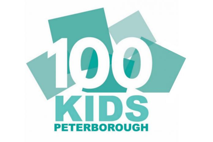 100 Kids Peterborough has its first meeting on March 11, 2020 at the Lions Community Centre in Peterborough's East City. Four times per year, members of the group will each donate $10 to a charity or not-for-profit organization selected by all members. (Logo: 100 Kids Peterborough)