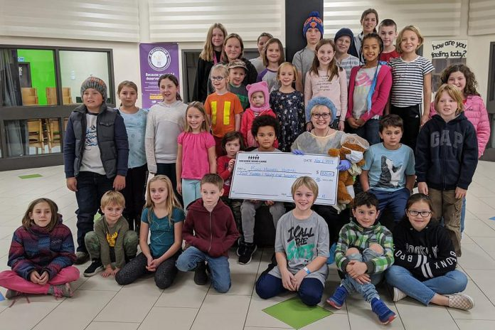 The collective philanthropy group for children, 100 Kids Who Care Kawartha Lakes, was launched in February 2018. In November 2019, the group raised $425 for Ross Memorial Hospital in Lindsay. (Photo: 100 Kids Who Care Kawartha Lakes / Facebook)