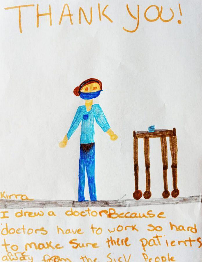 By Kirra (age 9). (Photo via Art Gallery of Peterborough)