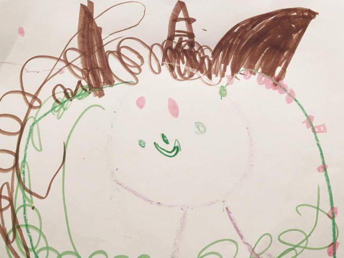 By Neko (age 5). (Photo via Art Gallery of Peterborough)