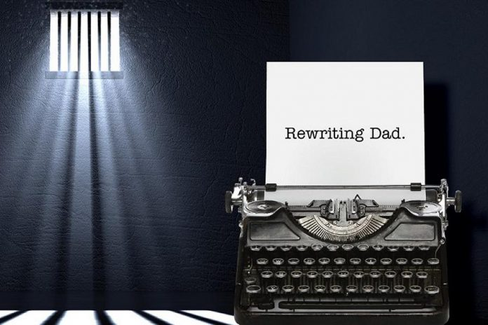 """Rewriting Dad"" is a podcast hosted by Walton Wood Farm founder and CEO Leslie Bradford-Scott and local actor and filmmaker Megan Murphy. The podcast is based on a secret manuscript Bradford-Scott's late father wrote in prison 32 years ago. (Graphic: Rewriting Dad)"
