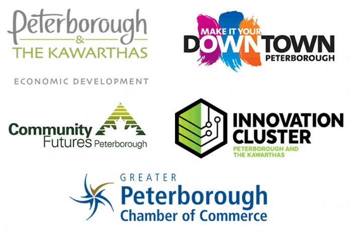 """TeamPTBO"" is Peterborough & the Kawarthas Economic Development, the Peterborough Downtown Business Improvement Area, Community Futures Peterborough, the Innovation Cluster Peterborough and the Kawarthas, and  the Greater Peterborough Chamber of Commerce."