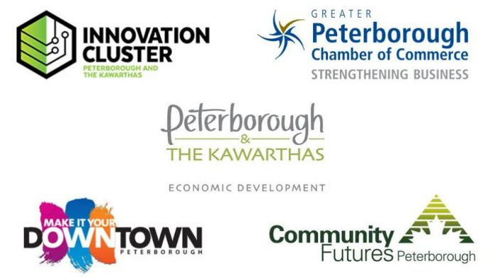 """TeamPTBO"" consists of Peterborough economic development organizations Innovation Cluster Peterborough and the Kawarthas,  Greater Peterborough Chamber of Commerce, Peterborough & the Kawarthas Economic Development, Peterborough Downtown Business Improvement Area, and Community Futures Peterborough. (Graphic: TeamPTBO)"