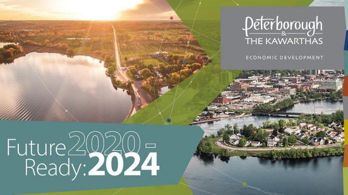 "Peterborough & the Kawarthas Economic Development has unveiled its five-year regional economic development strategic plan entitled ""Future Ready: 2020-2024"". (Graphic courtesy of Peterborough & the Kawarthas Economic Development)"