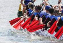 For the first time in its 20-year history, Peterborough's Dragon Boat Festival has been cancelled. Uncertainty and concerns about the COVID-19 pandemic led to the cancellation of the 20th anniversary event, which has raised more than $3.6 million over the past 19 years for breast cancer screening, diagnosis, and treatment at Peterborough Regional Health Centre. The event was scheduled for June 13, 2020 at Del Crary Park in downtown Peterborough. (Photo: Linda McIlwain / kawarthaNOW.com)