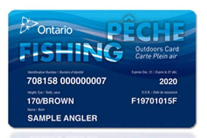 Unless you are a veteran or an active Canadian Armed Forces member, you need an Outdoors Card and a fishing licence to fish in Ontario. If you plan to fish for a single day only, you do not need an Outdoors Card but you will need a one-day sport fishing licence. (Photo: Government of Ontario)