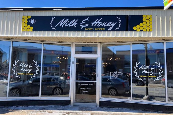 Milk & Honey Eatery is now open at 17 William Street South in downtown Lindsay, in the location of the former Pita Pantry and Common Grounds Coffee House. (Photo: Milk & Honey Eatery)
