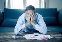 Man in financial distress