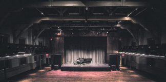 The theatre at Market Hall Performing Centre in downtown Peterborough sits empty. Under Ontario's COVID-19 state of emergency, performance venues are not allowed to open. Market Hall has been working to reschedule cancelled concerts into fall 2020; all purchased tickets will be honoured on the new dates. (Photo: Bradley Boyle)