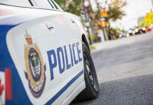 Both the Peterborough Police Service and Peterborough County OPP have new offences and fines available to enforce compliance with Ontario's state of emergency under the Emergency Measures and Civil Protection Act. Peterborough Public Health is conducting surveillance and inspections of facilities to confirm compliance with closures or modified operations for restaurants and bars (takeout and delivery) and of local grocery stores to observe infection prevention and control measures and discuss best practices with owners and management. (Photo: Peterborough Police Service)