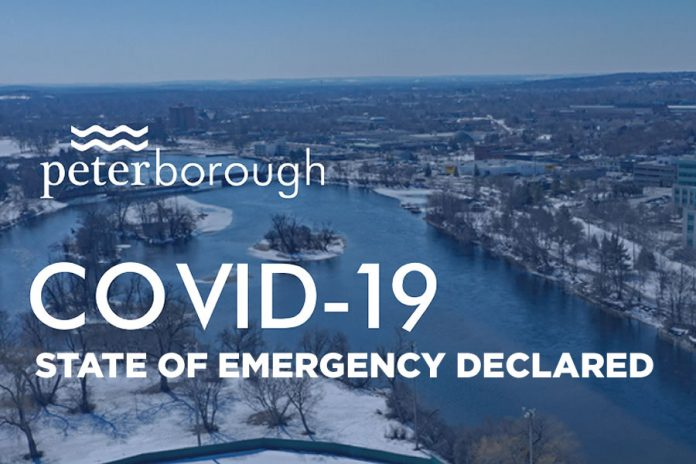 The City of Peterborough has declared a state of emergency due to the COVID-19 pandemic.