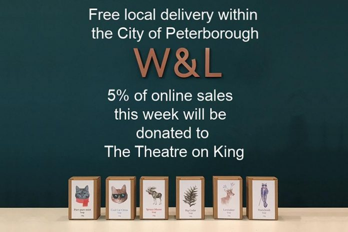 """""""The COVID special: Free local delivery + 5% of online sales this week go to The Theatre on King"""""""