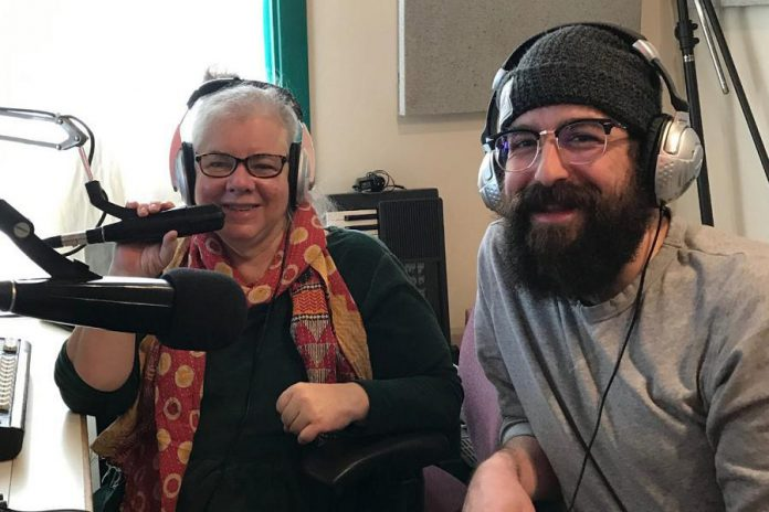 Electric City Culture Council (EC3) is a not-for-profit organization that champions the local arts, culture, and heritage community. Pictured is EC3 executive director Su Ditta, host of the Electric City Culturecast, interviewing spoken word artist Justin Millon in April 2019. Among other things, EC3 is advocating for rent relief for arts organizations renting municipal facilities, and the full reinstatement of the municipal property tax rebate for charitable organizations.  (Photo: EC3)