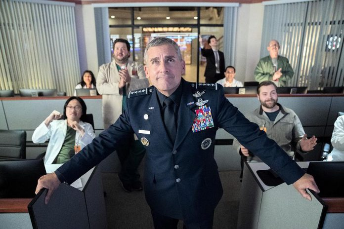 """Steve Carell stars as General Mark R. Naird in the new Netflix original comedy series """"Space Force"""", about a group of people taskes with creating Donald Trump's new branch of the U.S. military. Also starring John Malkovich, Ben Schwartz, and Lisa Kudrow, the series premieres on Netflix Canada on May 29, 2020. (Photo: Netflix)"""