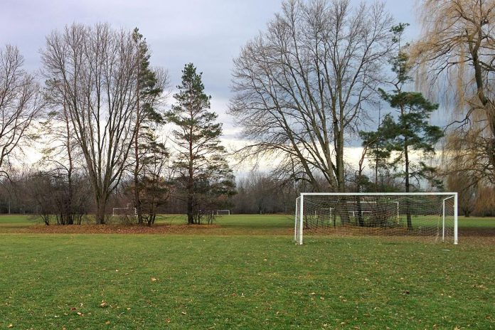 Effective May 19, 2020, the Ontario government is allowing some outdoor recreational amenities to open, such as these soccer fields at Beavermead Park in Peterborough. (Photo: Bruce Head / kawarthaNOW)