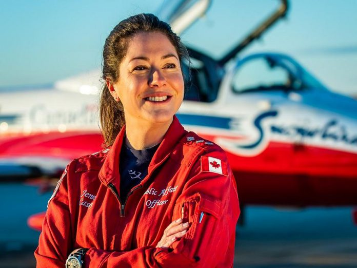 Captain Jennifer Casey, public affairs officer for the Canadian Forces Snowbirds, died on May 17, 2020 when her jet crashed near Kamloops, British Columbia. (Photo: Royal Canadian Air Force)