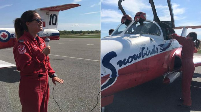 Captain Jennifer Casey at the Peterborough Airport's 50th Anniversary Airshow in September 2019. (Photos: City of Peterborough)