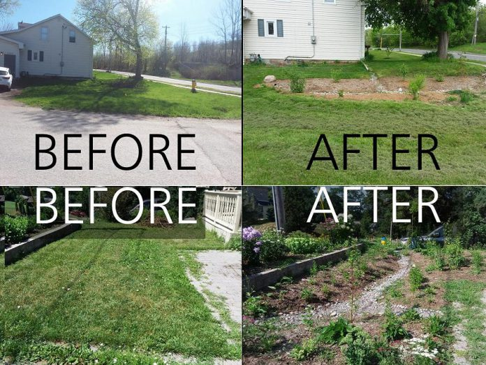 Thanks to the new Rain Garden Subsidy Program offered by the City of Peterborough, city residents can get financial support to help them add a rain garden to their property, with GreenUP providing educational support on designing a rain garden.  (Photos courtesy of GreenUP)