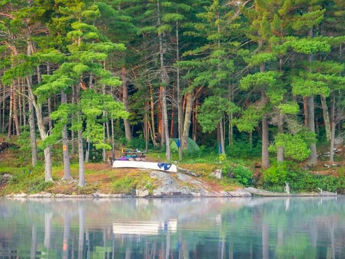 Beginning June 1, 2020, backcountry camping is available the 20 operating Ontario provincial parks that offer it, as well as all all non-operating provincial parks and conservation reserves. This photo of backcountry camping at Kawartha Highlands Provincial Park was kawarthaNOW's top Instagram photo in July 2018. (Photo: Jasmine Starr @jasminenstarr / Instagram)