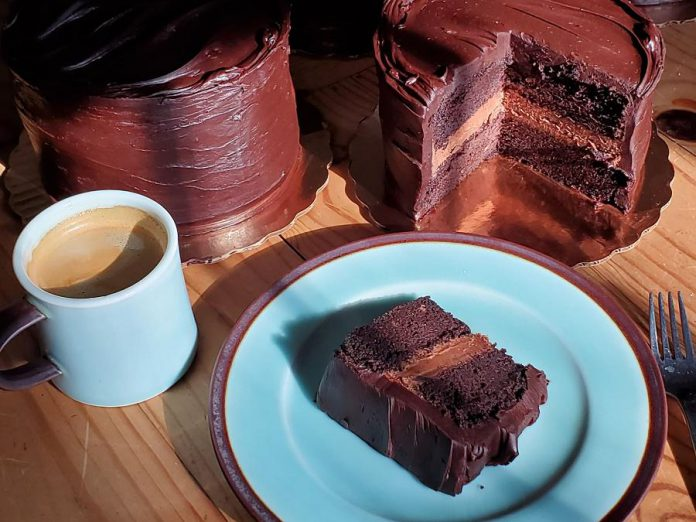 Potter and baker Bill Reddick's gluten-free chocolate cake makes the list of four decadent comfort foods to try in Peterborough now. (Photo: Bill Reddick)