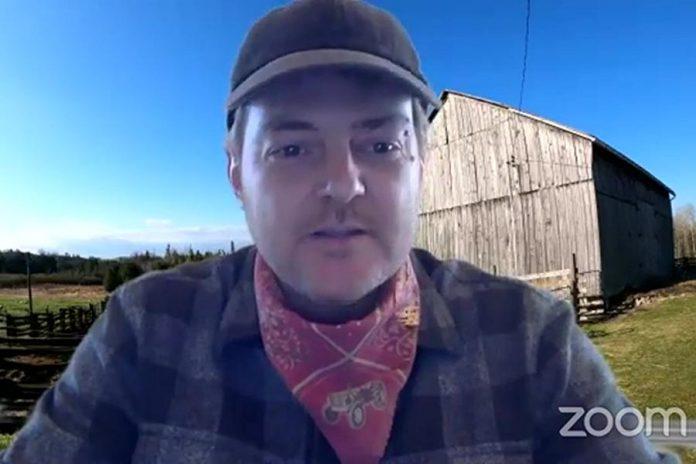Farmers Black Market market manager Fox Jones hosting a virtual market on Facebook Live on May 3, 2020. (Screenshot)