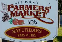 The Lindsay Farmers' Market runs on Saturdays from 7 a.m. to 1 p.m. on Victoria Avenue in Lindsay between Kent and Peel. (Photo: Lindsay Farmers' Market)
