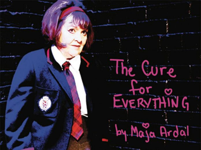"""A promotional poster for """"The Cure for Everything"""", written and performed by Maja Ardal. 4th Line Theatre is hosting Ardal's virtual reading of the play, which was first produced in 2010 by Theatre Passe Muraille in Toronto, on June 4, 2020 on the Zoom video platform. (Supplied photo)"""