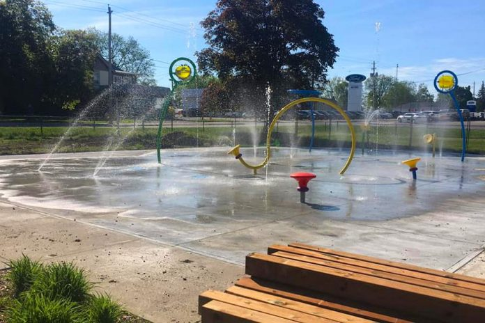 The splash pad at the Boys & Girls Clubs of Kawartha Lakes facility in Lindsay will be available to summer camp and child care program attendees, but will not be open for after-hours public use. (Photo: Boys & Girls Clubs of Kawartha Lakes / Facebook)