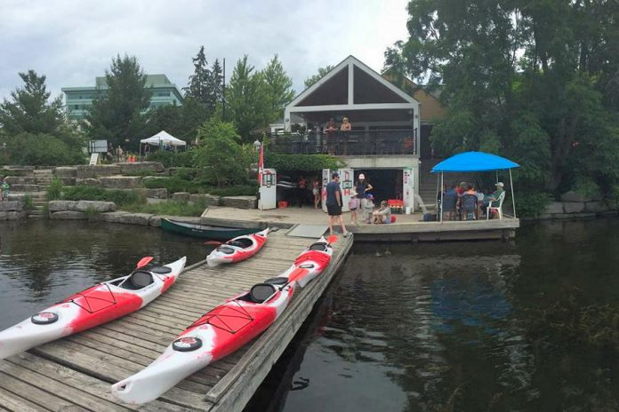 Lloyd Graham and Moe Grant have permanently closed their Pedal 'n' Paddle recreational service, which ran out of the Boat House below the Silver Bean Cafe in Millennium Park in downtown Peterborough. (Photo: Peterborough DBIA)