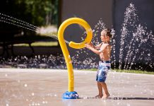 Along with the municipal splash pads in Lindsay and Bobcaygeon, the Garnet Graham Park Splash Pad in Fenelon Falls will open daily from 11 a.m. to 7 p.m. beginning Friday, June 26th. The number of participants at one time will be restricted, and water flow will be stopped every couple of hours to allow for sanitization of the facilities. (Photo: City of Kawartha Lakes)