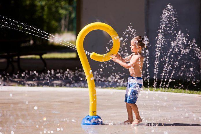 The splash pad at Garnet Graham Park in Fenelon Falls. (Photo: City of Kawartha Lakes)