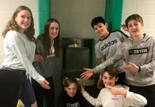 "Before schools were closed due to the COVID-19 pandemic, Grade 8 students at Monsignor O'Donaghue Catholic Elementary School showed off a newly installed water bottle refill station at the school, part of a student-led project called ""CAPS off Water"", an acronym representing the conservation, awareness, protection, and stewardship of water. GreenUP has awarded the students its School Engagement Award for their work on the project. Pictured from left to right: Shannon Elliott, Molly Sharman, Jacob Colocci, John Velasquez, Cooper Cook, and Noah Bowler. (Photo: GreenUP)"