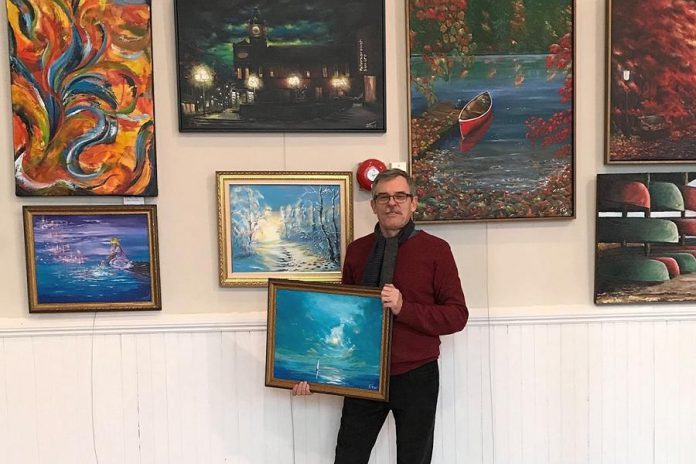 """Although the COVID-19 pandemic means Aleks Goloborodko has no place to show his art, he's taking it in stride. """"This makes space for me to create more pieces and to contact other places for my art,"""" he says.  (Photo courtesy of Aleks Goloborodko)"""