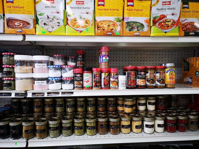 Shahab Stanikzai is Peterborough's spice king, selling more than 50 spices in his downtown Peterborough shop. He uses some of these spices in his famous samosas.  (Photo courtesy of Goodies on George)
