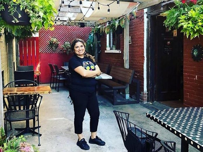 "La Hacienda owner Sandra Arciniega calls her downtown Peterborough restaurant ""our little corner of Mexico"".  The restaurant's patio reopened effective June 12, 2020 as part of the stage two reopening of the province. (Photo courtesy of La Hacienda)"