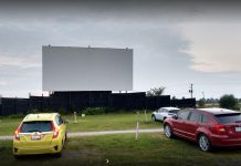 The Port Hope Drive-In will be opening for the season on June 12, 2020 but, due to public health restrictions during the COVID-19 pandemic, the drive-in will be operating at half its normal capacity and the concession stand will be closed. (Photo: Shaney Cannon / Google Maps)