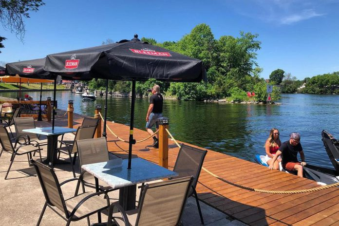 The restaurant just reopened its river-side patio for daily service earlier this month, after the Ontario government lifted restrictions.  (Photo: Rileys / Facebook)