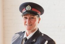 Detective Constable Stacey Rutherford, pictured in 2019 in a photo by photographer Heather Doughty for her Inspire: The Women's Portrait Project. Rutherford has retired from the Peterborough Police Services after a 30-year career that included being the first female handler in the service's canine unit and working in the service's sex offence unit and internet child exploitation unit. (Photo: Heather Doughty)