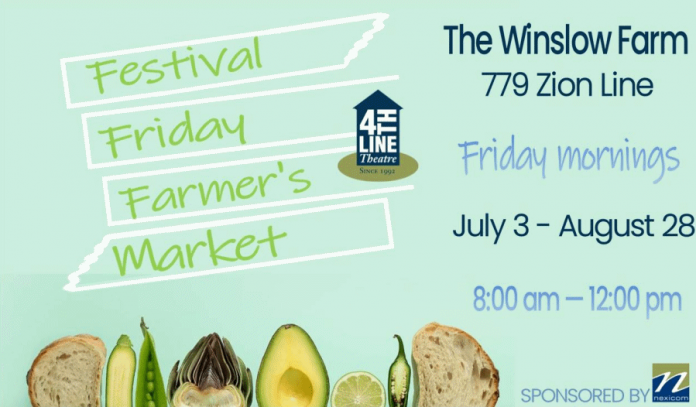 4th Line Theatre is also connecting to its audience and the community by hosting a weekly farmers' market every Friday morning at the Winslow farm in Millbrook. (Graphic: 4th Line Theatre)