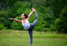 Outdoor yoga sessions at 4th Line Theatre's Winslow Farm in Millbrook will be led by yoga instructor Madison Sheward. (Photo: Christine Mepstead)