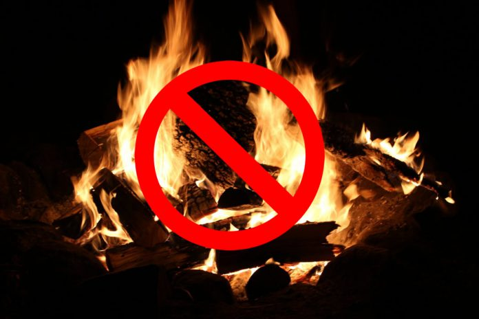 Open-air fire ban