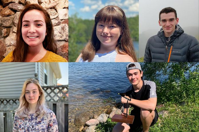 The 2020 Summer Company start-ups in the Peterborough area. Clockwise from top left: Andréanna Sullivan, Mary Wootton, Shane Willis, Gabriel Dalgarno, and Breah Beazer-Clarke. (Photos via Business Advisory Centre)