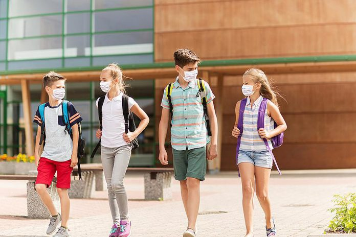 Children and youth in Ontario woill be returning to school in September, with students in grade 4 to 12 required to wear a mask along with teachers and staff.