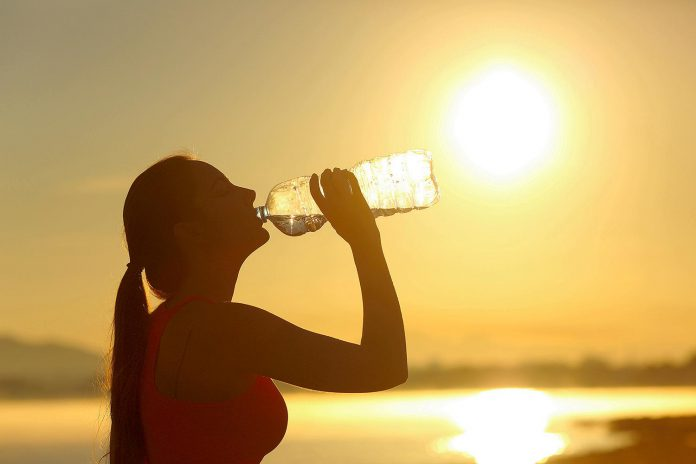 Public health officials recommend you drink plenty of water during aheat warning, even if you don't feel thirsty, to decrease your risk of dehydration. Thirst is not a good indicator of dehydration. (Stock photo)